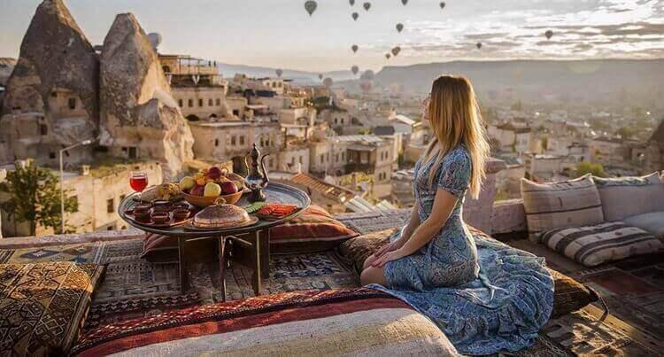 ontbijten prachtige met omgeving cappadosië turkije